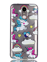 cheap -Case For LG Pattern Back Cover Unicorn Soft TPU for LG K10 (2017) / LG K8 (2017)