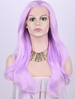 Women Synthetic Wig Lace Front Medium Length Long Wavy Straight Natural Wave Loose Wave Deep Wave Purple Lolita Wig Party Wig Celebrity