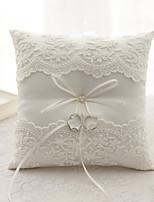 ruban fleur (s) arc satin anneau de soie oreillers cérémonie de mariage