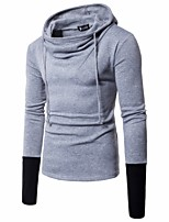 Men's Daily Sports Holiday Going out Casual Street chic Punk & Gothic Hoodie Color Block Hooded Micro-elastic Polyester Long Sleeve