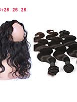 Недорогие -Натуральные волосы Реми Монгольские волосы Естественные кудри Наращивание волос 4 Черный