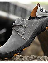 Беговые кроссовки Альпинистские ботинки Муж. Воздухопроницаемость Спорт в свободное время Низкое голенище Кожа Резина Пешеходный туризм