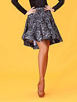 Latin Dance Bottoms Women's Performance Lace Lace High Skirts