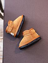 Fille Chaussures Daim Automne Hiver Bottes de neige Ballerines Bottine/Demi Botte Pour Décontracté Noir Jaune
