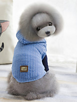 Dog Vest Dog Clothes Casual/Daily Solid Dark Blue Red Blue
