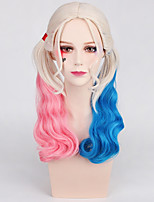 Women Synthetic Wig Capless Long Wavy Rainbow Middle Part With Ponytail Lolita Wig Party Wig Halloween Wig Carnival Wig Cosplay Wig