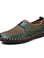 Men's Shoes Breathable Mesh Summer Comfort Loafers & Slip-Ons For Casual Blue Green Brown