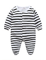 Baby Stripe One-Pieces,Cotton Spring/Fall Long Sleeve