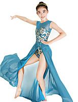 Balletto Vestiti Con lustrini Per donna Per bambini Esibizione Elastico Tessuto costumi da bagno Licra Paillettes Senza maniche Naturale