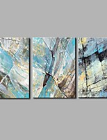Hand-Painted Abstract Horizontal Panoramic,Artistic Abstract Birthday Modern/Contemporary Office/Business Cool Christmas New Year's Three