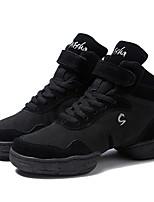 Women's Dance Sneakers Canvas Split Sole Outdoor Customized Heel Black Customizable