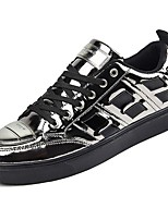 Men's Shoes Rubber Fall Comfort Sneakers Lace-up For Outdoor Red Silver Black