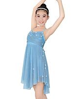 Ballet Dresses Women's Children's Performance Elastic Lycra Pleated Sleeveless Natural Dresses Headpieces