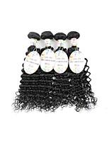 vierge Cheveux Brésiliens Bundle cheveux Ondulé Extensions de cheveux 3 Pièces Noir