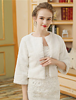 Women's Wrap Shrugs Faux Fur Wedding Party/ Evening Pattern / Print Fur