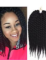 Twist Braids Hair Braid Havana Crochet 100% Kanekalon Hair Medium Brown Blue Burgundy Purple Medium Auburn 24