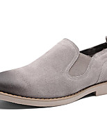 Men's Shoes Suede Fall Winter Comfort Loafers & Slip-Ons Lace-up For Casual Outdoor Wine Gray Black