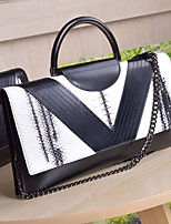 Women Bags All Seasons Cowhide Clutch Zipper for Casual White Black