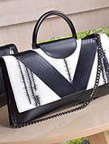 Women Bags All Seasons Cowhide Clutch Zipper for Casual White Black
