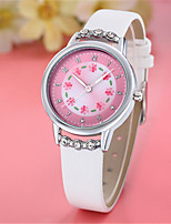 Women's Fashion Watch Quartz PU Band White Blue Pink Purple Rose
