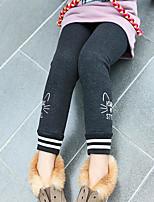 Pantalons Fille Couleur Pleine Imprimé Hiver