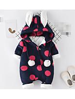 Baby Polka dots One-Pieces,100%Cotton Winter Fall/Autumn Fuchsia Royal Blue