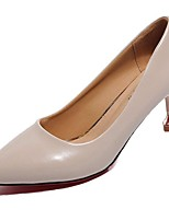 Women's Shoes PU Spring Summer Basic Pump Comfort Heels Stiletto Heel Pointed Toe For Office & Career Almond Beige Black
