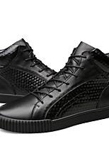 Для мужчин обувь Натуральная кожа Наппа Leather Кожа Осень Зима Удобная обувь Зимние сапоги Модная обувь Ботильоны Обувь для дайвинга