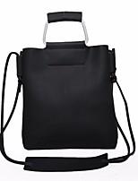Women Bags Fall Winter PU Shoulder Bag Zipper for Casual Black Blushing Pink Light Gray