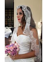 One-tier Wedding Veil Fingertip Veils With Applique Tulle Wedding Accessories