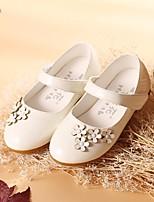 Fille Chaussures Polyuréthane Printemps Automne Confort Ballerines Noeud Pour Décontracté Blanc Noir Rouge