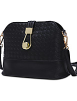 Women Bags PU Shoulder Bag Zipper for Shopping Casual All Seasons Gold White Black Silver