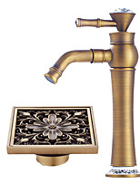 Centerset Widespread with  Ceramic Valve Single Handle One Hole for  Antique Copper , Bathroom Sink Faucet