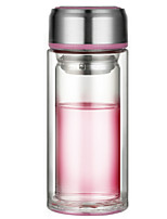 Casual/Daily Drinkware, 260 Toughened Glass Tea Water Water Bottle