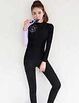 Per donna Asciugatura rapida Cotone giapponese Scafandro Manica lunga Top Pantaloni-Spiaggia Sport acquatici Autunno Tinta unita