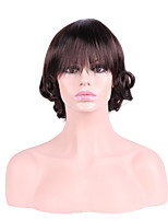 Women Synthetic Wig Capless Short Curly Brown Natural Hairline Layered Haircut Party Wig Halloween Wig Cosplay Wig Natural Wigs Costume