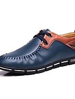 Для мужчин обувь Кожа Весна Осень Удобная обувь Туфли на шнуровке Шнуровка Назначение Повседневные Для вечеринки / ужина Коричневый Синий