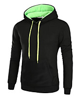 Men's Daily Hoodie Color Block Hooded Micro-elastic Polyester Long Sleeve Fall