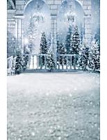 5 * 7ft grande fotografia fundo pano de fundo moda clássica natal neve tema para estúdio fotógrafo profissional