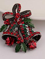 Women's Brooches Rhinestone Cute Style Simple Style Rhinestone Alloy Jewelry Jewelry For Gift Christmas