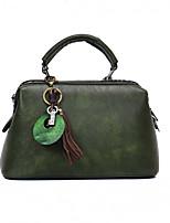Donna Sacchetti Per tutte le stagioni PU (Poliuretano) Tote Cerniera per Shopping Casual Nero Rosa Grigio Verde militare