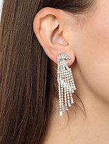 Women's Drop Earrings Rhinestone Oversized Fashion Alloy Drop Jewelry For Party Christmas