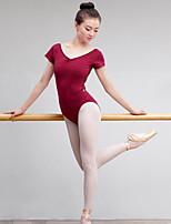 Danza classica Per donna Esibizione Elastene Maniche corte Naturale Calzamaglia