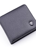 Men Bags All Seasons PU Wallet Tiered for Shopping Casual Black Coffee