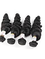 Cheveux humains Cheveux Brésiliens Noël Extensions de cheveux 3 Pièces Noir