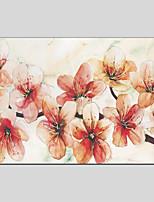 Peint à la main A fleurs/Botanique Autres Un Panneau Toile Peinture à l'huile Hang-peint For Décoration d'intérieur