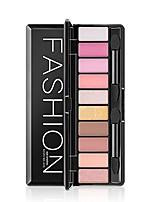 10 Paleta de Sombras Secos Paleta da sombra Pó Maquiagem para o Dia A Dia