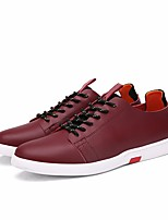 Homme Chaussures Vrai cuir Printemps Automne Confort Basket Pour Décontracté Noir Rouge Bleu