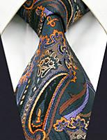 Men's Silk Neck TiePattern Geometric All Seasons