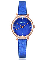 KEZZI Women's Fashion Watch Wrist watch Casual Watch Quartz PU Band Luxury Cool Casual Black White Blue Pink